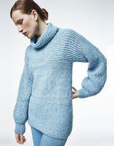 1ad027ec95f62 Modèle pull col montant frénésie femme facile à tricoter