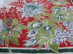 Pineapple House Antiques ~ Vintage Floral Tablecloth!