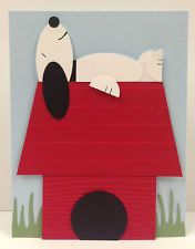 Snoopy Punch Art Stampin' Up! Card kit (5 cards)