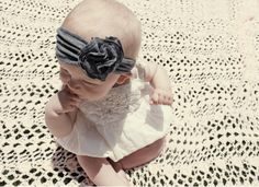 DIY Jersey Headband For Your Baby Girl | Kidsomania-i can do this...im going to try tomorrow with some leftover fabric from the baby shower!! yay!