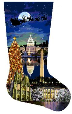 One of the most beautiful stockings we've ever sold and one of the most popular. From DJ Designs. 18 Mesh by Price is for hand-painted needlepoint canvas only - Online Store Powered by Storenvy Kids Christmas Stockings, Cross Stitch Christmas Stockings, Cross Stitch Stocking, Christmas Stocking Holders, Christmas Crafts, Needlepoint Stockings, Needlepoint Stitches, Needlepoint Canvases, Needlework