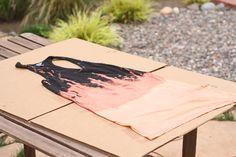 Julie Ann Art: DIY Bleach Splattered Dress