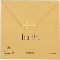 Dogeared Integrated Cross Pendant Necklace ($132) ❤ liked on Polyvore featuring jewelry, necklaces, accessories, gold, cross necklace pendant, pendants & necklaces, 14k chain necklace, cross pendant and 14k necklace