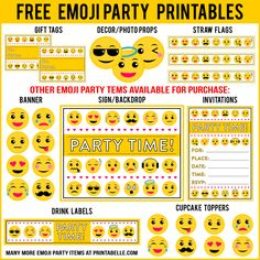 Free Emoji Printables And More Additional Items Can Be Added Below For Personal Use