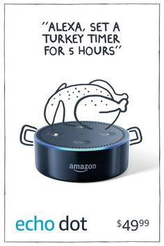 Promoted: Just ask Alexa to convert measurements, set timers and play music while you cook. The Amazon Echo, starting at just $49.99.