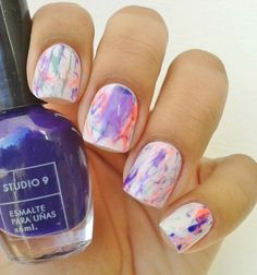 The Colorful Marble Touch Nail Art. Effect of marble on beach? latest nail art designs gallerynail designs for short nails easy full nail stickers nail art sticker stencils best nail wraps 2019 Summer Holiday Nails, Holiday Nail Art, Spring Nails, Summer Nails, Nail Art Designs, Marble Nail Designs, Short Nail Designs, Trendy Nails, Cute Nails