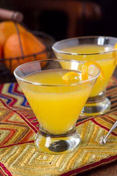 Orange Blossom Cocktail...4 oz. Seville orange juice (I used 2 oranges to get this much juice)   2 oz. Cointreau   2 oz. good quality vodka   1 oz. Infused Simple Syrup     Infused Simple Syrup   1/2 cup sugar   1/2 cup water   zest from 1 Seville orange