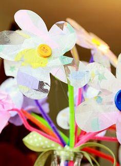 sticky back plastic flowers - ?Mothers Day