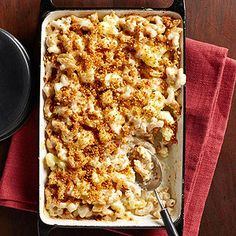 Comfort Food Under 450 Cals: Cauliflower Macaroni and Cheese With Golden Bread Crumbshttp://fitm.ag/18ztJly