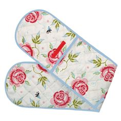 """Rose & Bee"" Rose & Bee Oven Gloves at Emma Bridgewater"