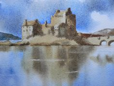 Watercolor Castle 1 of 4