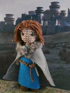 Game of thrones amigurumi: Arya Stark Moñacos, cosicas y meriendacenas