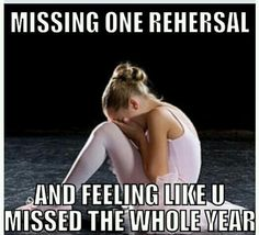 OHmygosh! This totally happened to me! There was a rehersal on monday, and I was…
