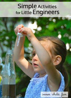 Simple Activities for Little Engineers.  #STEM #preschool  #ece