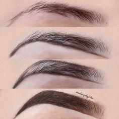 Make Up; Make Up Looks; Make Up Augen; Make Up Prom;Make Up Face; Eye Shape Makeup, Eyebrow Makeup Tips, Eye Makeup, Hair Makeup, Eyebrow Brush, Makeup Steps, Eyebrow Pencil, Makeup Eyebrows, Brow Gel