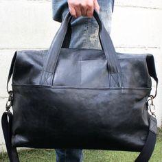 MM Weekender - #black #leather #bag #weekender #unisex