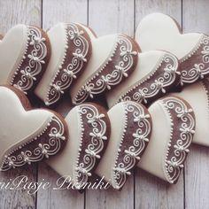 Valentine Desserts, Valentines Day Cookies, Valentine Cookies, Christmas Cookies, Chocolate Chip Cookie Cheesecake, Cheesecake Cookies, Chocolate Cookies, Royal Icing Cookies, Sugar Cookies
