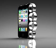 Sweet cases for cell phones. I love this brass knuckles one.