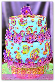 bollywood cake designs    PASSIONATE CAKES BY MAN KWAN: Vibrant Bollywood Wedding Cake...