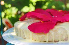 Raw Strawberry & Lemon Rose Cake