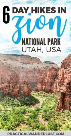 The 6 best Zion National Park Hikes! Zion National Park in Utah is one of the most visited parks in the United States and for good reason. Explore this outdoor adventure wonderland on foot with these epic day hikes plus everything you need to know in thi New Travel, Travel Usa, Travel Vlog, Travel Hacks, Travel Ideas, Ecuador, Alaska, Arizona National Parks, Day Hike