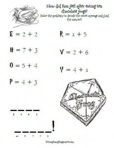 Harry Potter Unit Worksheet: A Hogwarts Story (fill in the