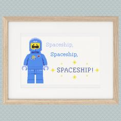 Benny's Spaceship, Spaceship, SPACESHIP! Lego Cross Stitch Pattern