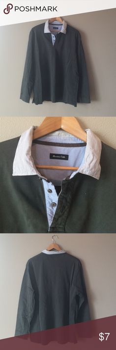 Men's sweater Moss green Massimo Dutti Sweater. Good condition except some light discoloration on inside collar. No holes or anything. Massimo Dutti Sweaters