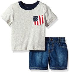 The Children's Place Baby Boys' USA Flag Pocket Tee and Short Set, H/T Falcon, 12-18MOS. For price & product info go to: https://all4babies.co.business/the-childrens-place-baby-boys-usa-flag-pocket-tee-and-short-set-ht-falcon-12-18mos/