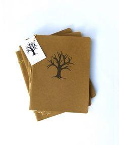 Moleskine journal with a hand printed Tree of Life £9.00 by Tara Winona