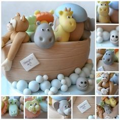 Noah's Ark Christening Cake - by yummumcakeco @ CakesDecor.com - cake decorating…