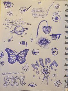 Indie Drawings, Cool Art Drawings, Art Drawings Sketches, Art Journal Inspiration, Art Inspo, Pretty Art, Cute Art, Arte Grunge, Art Diary
