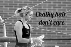 Chalky hair, don't care. New motto :)