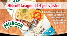 Tester für Miracoli Lasagne