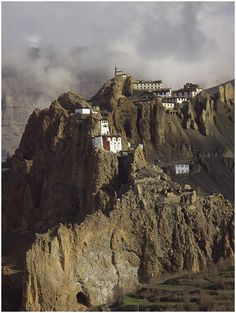 Dhangkar means Fort on a cliff. It was the traditional capital of the Spiti Valley Kingdom during the 17th century and the seat of the early rulers of Spiti, the Nonos.