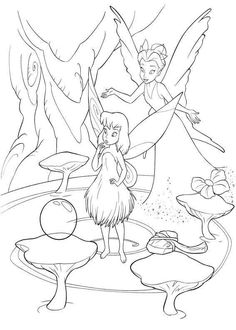 Disney Cartoon Fairy Tinker Bell Coloring Pages For Kids 15