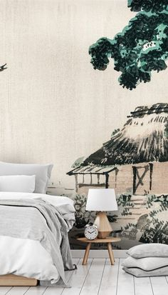 Creating such a relaxing euphoria, these Japanese art wallpapers will transform any room into absolute bliss. Perfect for your bedroom and bathroom or for a feature wall in any space, these oriental designs are extremely versatile. Order one of our Japanese wallpaper murals and transport yourself deep into the majestic Orient. Click to see this stunning collection from Wallsauce! #wallmural #wallpaper #oriental #wallsauce #japanese #homedecor The Japani Interior Trend Wallpaper Murals, Wall Murals, Oriental Wallpaper, Oriental Design, Corner Designs, Designer Wallpaper, Japanese Art, Bliss, Wallpapers