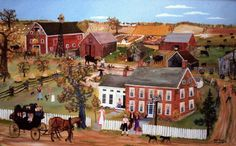 Grandma Moses Painting Mary Robinson, Grandma Moses, Time Stood Still, What Is Meant, Old Wall, Primitive Folk Art, Folk Fashion, Naive Art, American Artists