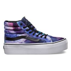 ca34e33780b Vans Shoes Platforms. Cosmic Galaxy SK8-Hi Platform