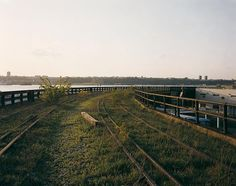 Joel Sternfeld A Spring Evening, the Hudson, May 2001 from High Line