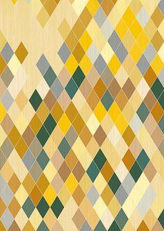 Diamond Pattern Art Print