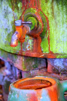 A rusted tap photographed by Lisa