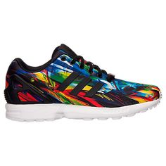 Men's adidas ZX Flux Print Casual Shoes - AF6323 BLK   Finish Line