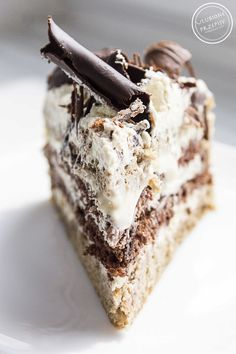 Cappuccino cake – Pastry World Best Dessert Recipes, Just Desserts, Sweet Recipes, Delicious Desserts, Cake Recipes, Lemon Cream Cake, Fruit Birthday Cake, Chocolate Dipped Fruit, Polish Recipes