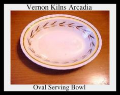 Vernon Kilns Arcadia Oval Vegetable Bowls lot of 2 by lovevintagehouseware, $39.95 vintage china dinnerware California Pottery