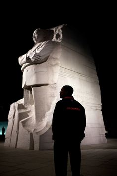 Powerful Photo:  President Barack Obama tours the Martin Luther King, Jr. National Memorial in Washington, D.C., Oct. 14, 2011.  Without Dr. King's and others persistence and courage for equality there would be what we know today, a President Barack Obama.