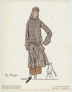 """La Taupe"" Illustration from ""La Gazette du Bon Ton"", French, 1922."