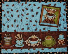 Mug rug by Nancy Bowron Small Quilt Projects, Crafty Projects, Quilting Projects, Sewing Projects, Patchwork Quilting, Scraps Quilt, Table Runner And Placemats, Quilted Table Runners, Mug Rug Patterns