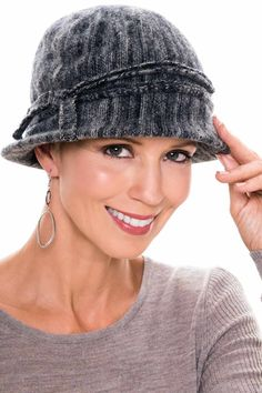 Diluted Stripe Classic Cloche Hat  0cb866bf4642