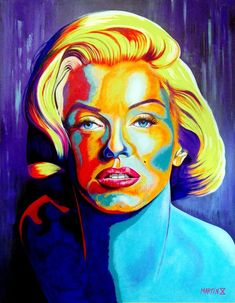 Title: Marilyn I  Acrylic on canvas. (Acrílico sobre tela). 140 cm x 190 cm (55 x 75 in).